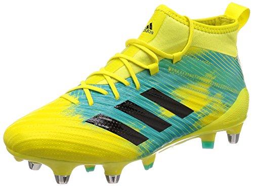 adidas Predator Flare (SG), Scarpe da Rugby Uomo, Giallo (Shoyel/Cblack/Hiraqu Shoyel/Cblack/Hiraqu), 47 1/3 EU