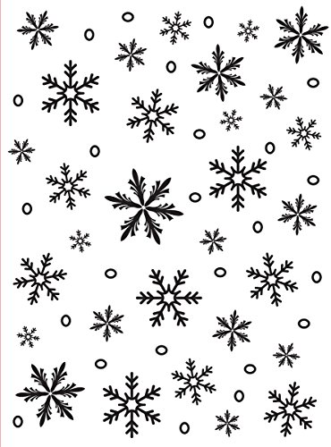 Darice Embossing Folder Mascherina Fiocco di Neve, Plastic, Transparent, 10.7 x 14.6 x 0.4 cm
