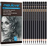 Best Charcoal Pencils - MISULOVE Professional Charcoal Pencils Drawing Set - 12 Review