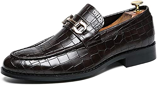 YU Mannes Freizeitschuh Slip On Leder Slipper Leichte Atmungsaktive Mode Turnschuhe Handgefertigte Fahren Mokassins Business Walking Loafer Flats Schuhe