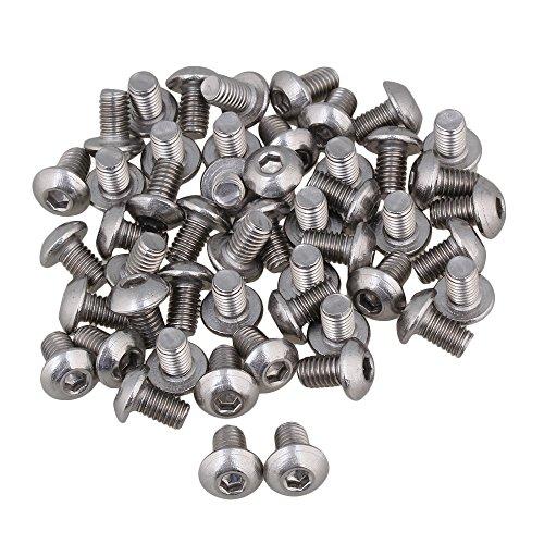BQLZR Silber metrische Gewinde M5 Linsenkopf Innensechskant Kappe Schrauben Bolt Packung mit 50