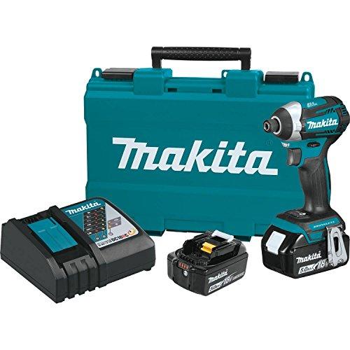 Makita XDT14T 18V LXT Lithium-Ion Brushless Cordless Quick-Shift Mode 3-Speed Impact Driver Kit (5.0Ah),
