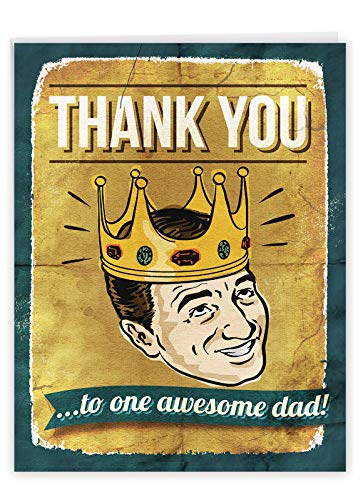 NobleWorks - Jumbo Fathers Day Card Funny (8.5 x 11 Inch) - Hilarious Greeting Notecard for Dads, Grandpa - Awesome Dad J0234