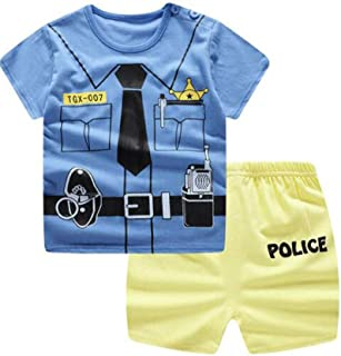 Unisex Baby Boys Girls 2-Piece Cotton Pajama Sleepwear Outfits Set