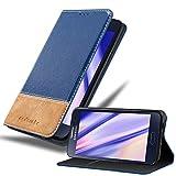 Cadorabo Funda Libro para Samsung Galaxy A3 2015 en Azul MARRÓN - Cubierta Proteccíon con Cierre Magnético, Tarjetero y Función de Suporte - Etui Case Cover Carcasa