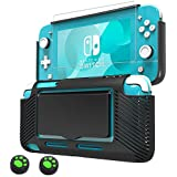 Protective Case for Nintendo Switch Lite 2019, Slim Grip Cover with Shock-Absorption and Anti-Scratch Design, 1 Tempered Glass Screen Protector & 2 Joystick Caps Included