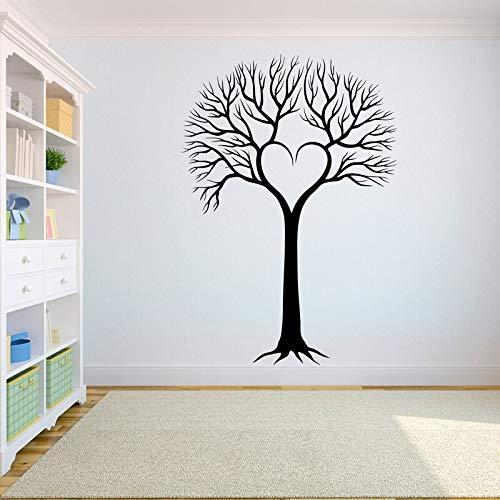 Calcomanía de pared de árbol La raíz del árbol de la vida son pájaros volando decoración de yoga etiqueta de pared de rama en forma de corazón otro color 57X82CM
