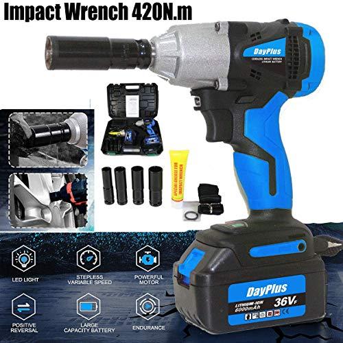 420N.m Cordless Impact Wrench Kit 1/2