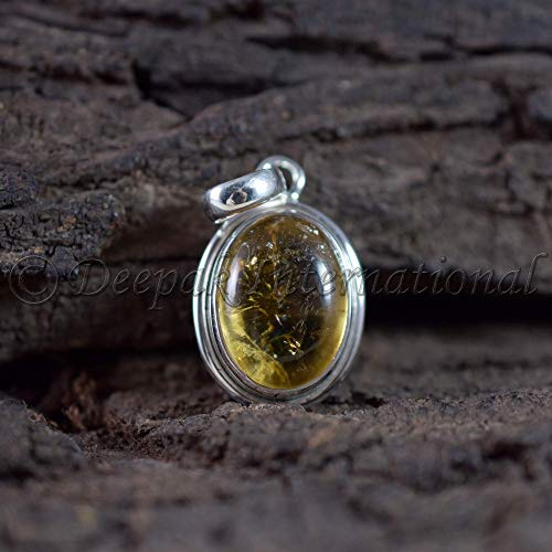 Citrine Pendant Necklace Boho Citrine Pendant Gemstone Pendant Sterling Silver Pendant Citrine Jewelry November Birthstone Pendant