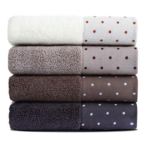 フェイスタオル KISENG ホテルスタイル 綿100% 柔らか タオル 75g 34cm×72cm 4枚セット