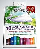10 Stück AQUA-MALER Faserstifte (10 Farben) - mehrfach mit Wasser nachfüllbar
