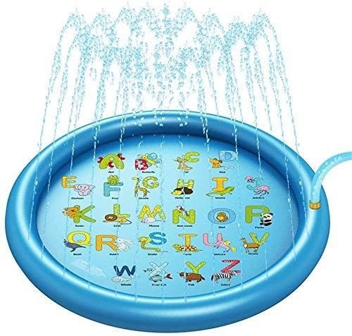 Sommer-Wasser-Spiele Mat 170cm Rasen Spray Wasserkissen Beach Pad Sprinkler for Außen