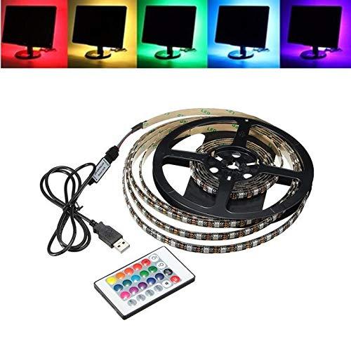 Zay Luay Luci 1M 2M 3M 4M Impermeabile 5050. RGB LED USB. Strip Light. TV Kit backlishting + 24key remoto (Color : 1M)