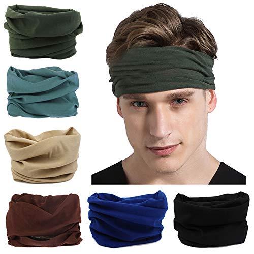 FAYBOX BRIDAL Nahtlose Bandanas Multifunktionstuch Schal 6 Stück Elastisches Stirnband Sport Magische Kopfbedeckung Outdoor Halstuch Schal UV Beständigkeit