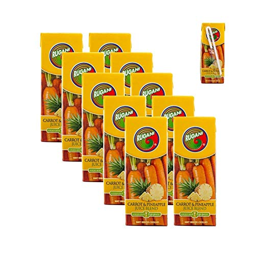 Pineapple and Carrot Juice Blend Lunchbox Case – 100% Pure Natural Fresh Juice Health Drink (10x330ml)