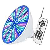 Ampoule LED à changement de couleur 40W, ampoule de piscine LED 120V RGB, remplacement d'ampoule Pentair Hayward, mémoire de couleur, télécommande et commande de commutateur