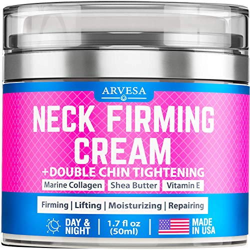 Premium Neck Firming Cream - Anti Aging Neck Cream - Made in USA - Effective Anti Wrinkle Cream - Double Chin Reducer Cream - Skin Tightening Cream with Collagen and Retinol for Neck and Décolleté