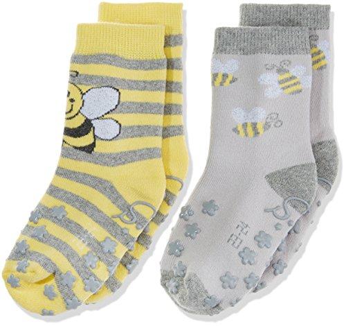 Sterntaler Mädchen Socken Abs-Krabbelsöckchen DP Biene, Gelb (Sonne Gelb), 24