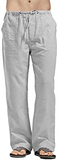 FRAUIT Pantalone Lino Uomo Taglie Forti Pantaloni Tuta Uomini Leggeri Larghi Plus Size Oversize Pantaloni da Lavoro Ragazz...