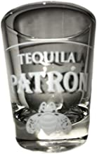 Patron Tequila 1.3 Ounce Shot Glass With Logo (2 Pack)