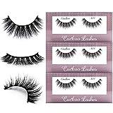 Cuckoo False Eyelashes 3D Faux Mink Lashes Korea PBT Fiber Reuseable Natural False Lashes 100% handmade - 301 (3Pairs)