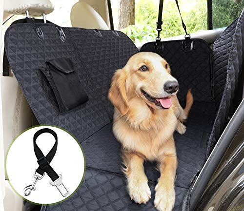 Pecute Dog Car Back Seat Cover, Pet Car Seat Protector Waterproof Nonslip with Dog Seat Belt Anchors...