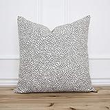 pealrich Fundas de almohada, funda de almohada de punto gris • almohada gris con textura gris • almohada de diseño • almohada decorativa • sauce, alabaster, 40,6 x 40,6 cm