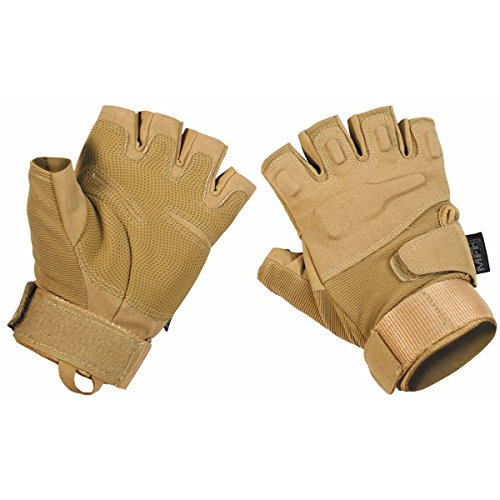 MFH Protect Fingerless Gloves Coyote Tan size XL
