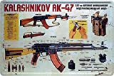 Blechschilder Kalashnikov AK-47 Deko Metallschild Schild