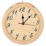 Weikeya Reloj de sauna de madera natural, material de calidad con una durabilidad máxima, 1 pila AA para el árbol de la sauna, el hogar o el dormitorio.