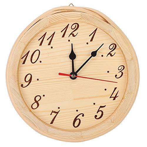 Bicaquu Sauna Holzuhr, Wandmontage Genaue HitzebestäNdige Sauna Timer Uhr Tragbare Sauna Dekoration Uhr FüR Saunaraum, Schlafzimmer Zu Hause