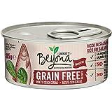Beyond Purina Humido Gato Grain Free Rico en Salmón con Spinaci, Pack de 12 x 85 g