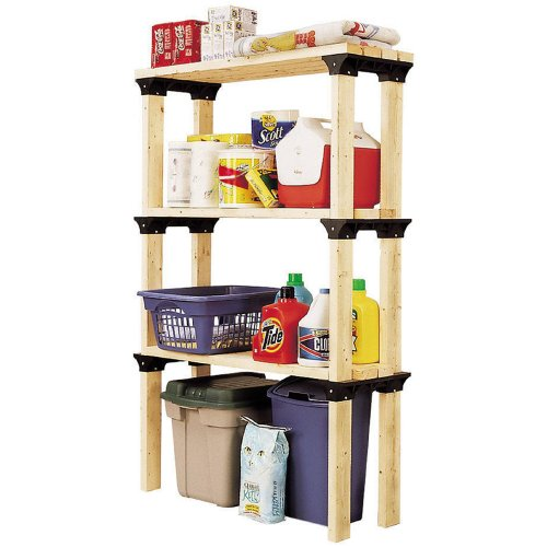 2x4basics 90124 Custom Shelving and Storage System Shelflinks, Black (Pack of 6)