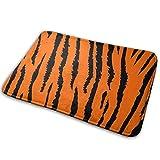 XCNGG Alfombrillas de baño, Alfombrillas Antideslizantes, alfombras de área Welcome Door Mat Orange Tiger Leopard Indoor Outdoor Entrance Rug Home Decorative Floor Mats 15.7' X 23.5'