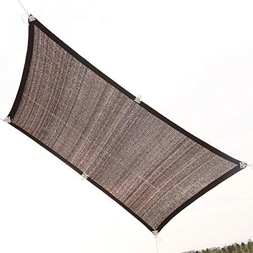 JXINGY Marrón Toldo para Exteriores Resistente Al Viento Transpirable Excelente Protección Solar 90% Bloque UV con Cuerda Libre, Rectángulo