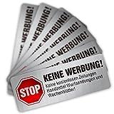 Keine Werbung Aufklebe Edelstahl-Look,Briefkastenaufkleber 16-Stück