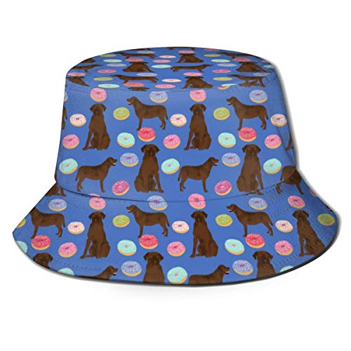 Holuday Dogs Pet Labs Donuts Bucket Hats for Men Outdoor Fisherman Sun Caps Chicken Waffles