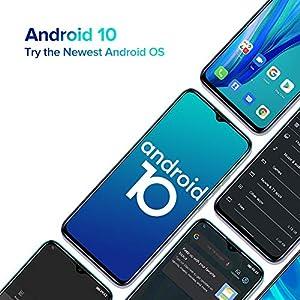 "Teléfono Móvil Libres 4G, Ulefone Note 9P Android 10 Octa-Core Smartphone Libre, Pantalla HD+ de 6.52"", 4GB + 64GB (256GB SD), Cámara Trasera Triple AI de 16MP, Batería 4500mAh, Dual SIM, Tipo C"