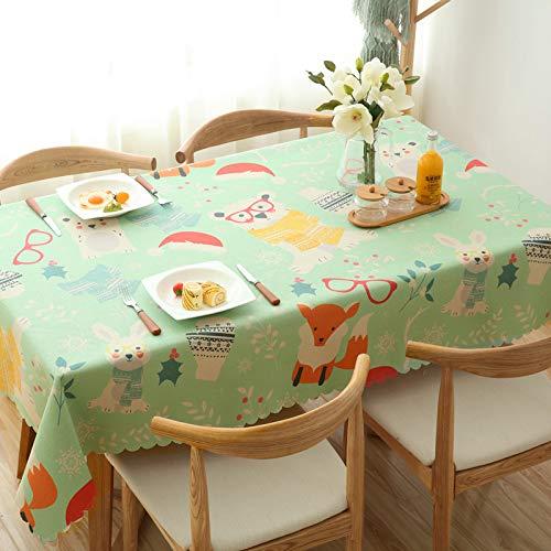 QZXCD tafelkleed voor thuis en dining, van katoen en linnen, kleine frisse salontafel, tafelkleed, linnen, rechthoekige pastorale afdekking, tafelkleed, verdikking