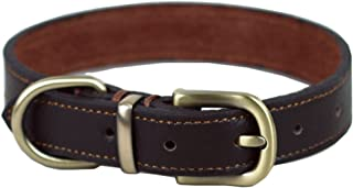 Tellpet Leather Collar Brown Small