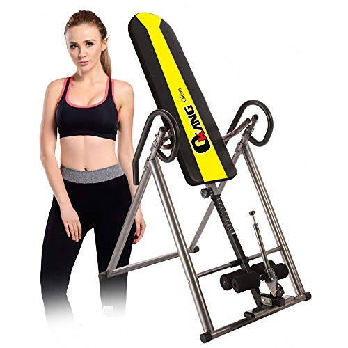 Check Out This ASDFGHJKL Heavy Duty Inversion Table Back Stretching Machine with Height Adjustable F...