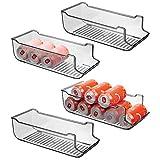 mDesign Juego de 4 cajas de almacenaje para frigorífico y armarios de cocina...