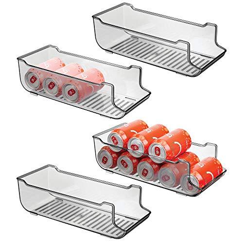 mDesign Juego de 4 cajas de almacenaje para frigorífico y armarios de...