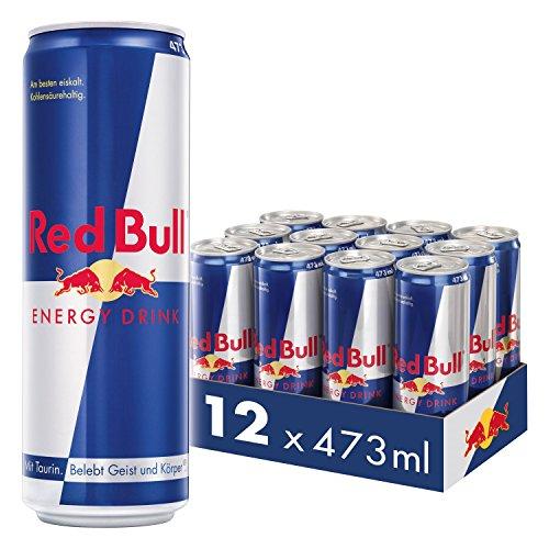Red Bull Energy Drink 12 x 473 ml OHNE Pfand Dosen Getränke, 12er Palette