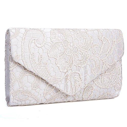 Borsa elegante borsa di sera pochette e clutch donna per Cerimonia (albicocca)