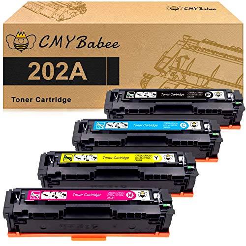 CMYBabee - Cartuchos de tóner compatibles con HP 202A HP CF500A para HP Laserjet Pro M281fdw M254dw M254dn M254nw M281dw MFP M281fdn M281cdw M281 M254 (negro, cian, magenta, amarillo)