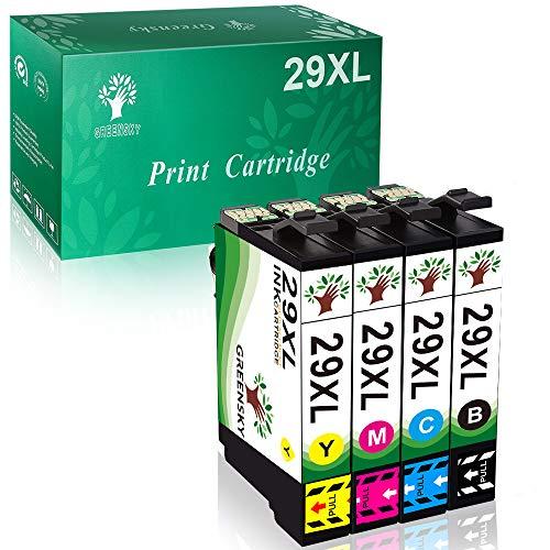 GREENSKY sostituzione cartuccia d'inchiostro compatibile per Epson 29XL per Epson Expression Home XP-235 XP-245 XP-247 XP-330 XP-332 XP-335 XP-342 XP-345 XP-430 XP-432 XP-435 (confezione da 4)