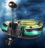 Schlauchboot mit Aussenbordmotor + Heckspiegel + Paddel, Pumpe Set für 2 Personen Komplettset