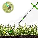 AACXRCR Removedor de raíz de la Planta Permanente Anular la Herramienta asesina de raíces con 3 Garras de Acero Inoxidable 39'Herramienta de Mano de aleación de aleación de aleación de Aluminio Largo