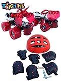 Toyshine Adjustable Baby Skates Combo | Skates, Helmet, Knee-Elbow-Wrist Guard | Age 7